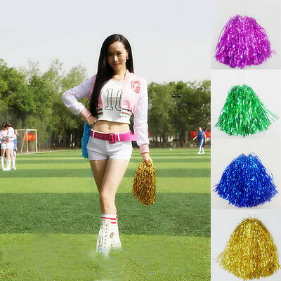 Poms Cheerleader Cheer leading Cheer Ring Pom Dance Party Club Decor Football