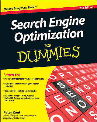 Search Engine Optimization For Dummies by Peter Kent (Paperback, 2010)