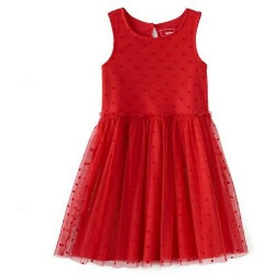 NWT $40 Girls Sonoma Red Sleeveless Tulle Party Church Dress Size 6