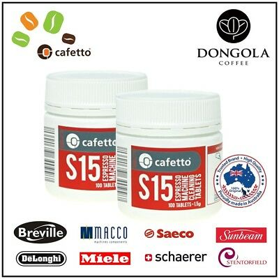 2PK CAFETTO S15 100x Espresso Coffee Machine Cleaning Tablets - Super Automatic