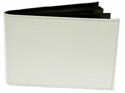 White 5 x 7 in Quality Archival Slip In Pocket Photo Album holds 60 photos