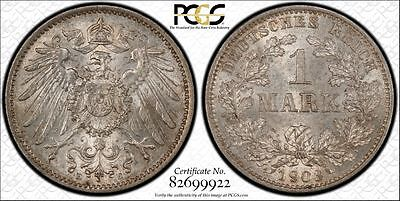 Germany 1903-E 1 Mark, PCGS MS64, toned