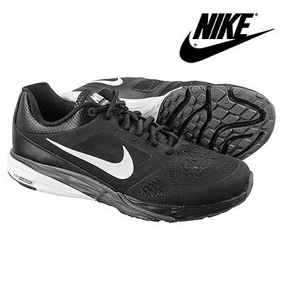 Nike Tri Fusion Black/White Running Shoes - Men's 8