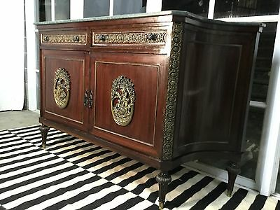 Stunning French Louis XV Marble Sideboard-Cabinet-Can Deliver