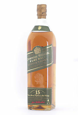 Johnnie Walker Green Label 15 Year Old Pure Malt Scotch Whisky 1000ml  OLD RARE