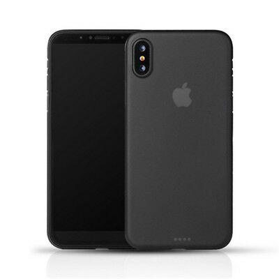 0.3mm Black Slim Matte PP Ultra-Thin Back Skin Cover Case For Apple iPhone X NEW