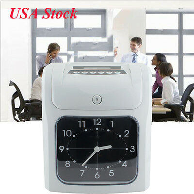 Electronic Employee analogue Time Recorder Time Clock +Card Monthly/Semimonthly
