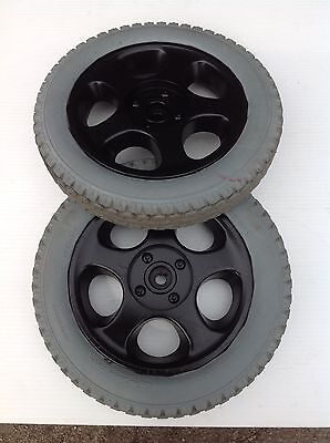 Salsa Alloys And Tyres For Electric Powerchair