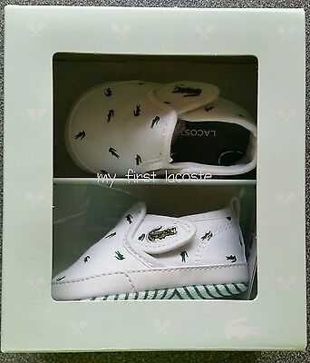 baby lacoste crib shoes size 3