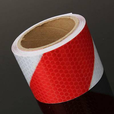 3M Roll Red White Twill Reflective Safety Warning Conspicuity Tape Film Stickers