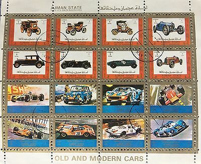 Ajman State 1973 Stamps - Old and Modern Cars - Small Size