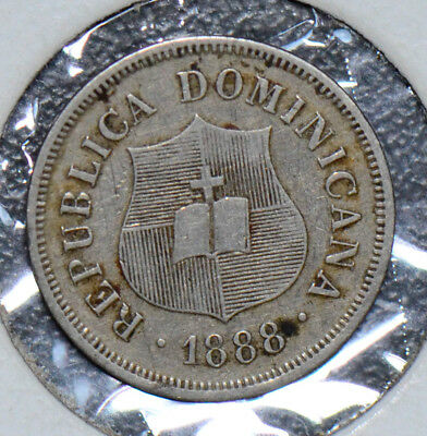 Dominican Republic 1888 A 1 2/4 Centavos  D0062 combine shipping