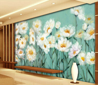 Pure Marguerite 3D Full Wall Mural Photo Wallpaper Printing Home Kids Decoration