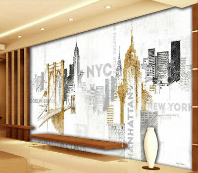 Hand-painted London 3D Full Wall Mural Photo Wallpaper Printing Home Kids Decor