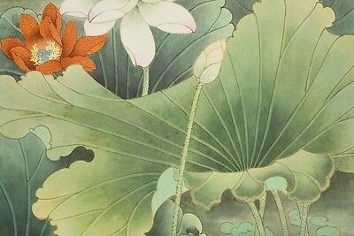 """Hanging Scroll 25"""" Chinese Painting Mandarin Duck Art China Antique Picture b653"""