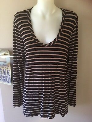 Metalicus Striped Long Sleeve Top. Size S/M.