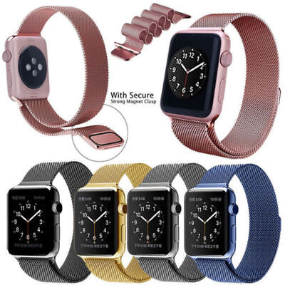 Magnetic Milanese Stainless Steel Strap Band for Apple Watch Series 2/1 38/42mm