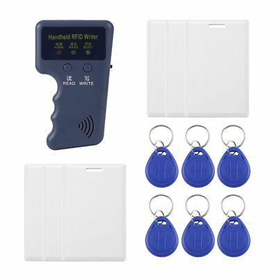 125KHz EM4100 RFID/ID Copier Writer Reader with 3/6 Pcs Cards and Tags LOT JO