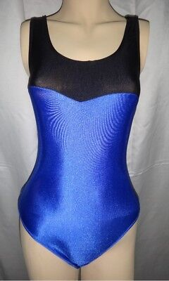 New Blue Ballet / Dance Leotard with Thin Straps for Women size 8 Small