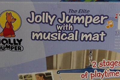 Baby jolly jumper with musical mat