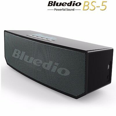 BLUEDIO BS-5 Bluetooth 4.1 Portable 3D Sound LoudSpeaker Wireless Soundbar Black