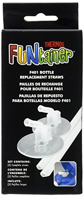 Replacement Straws Clear for 12 Ounce Funtainer Bottle with 2 Hard Straw Stems