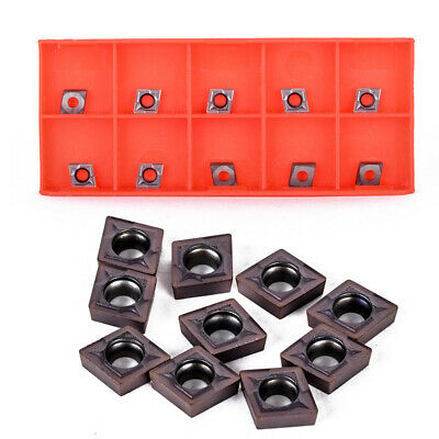 10PCS CCMT060204 Carbide Inserts CCMT0602 For Lathe Turning Tool Holder