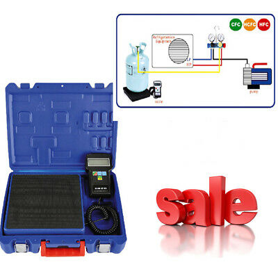 NEW Digital Electronic Refrigerant Charging Scale 220 lbs for HVAC With Case