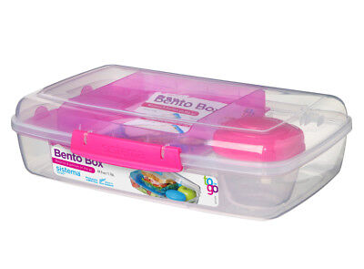 Sistema Bento Box 1.76L, Pink Portions Healthy Eating Work School On The Go