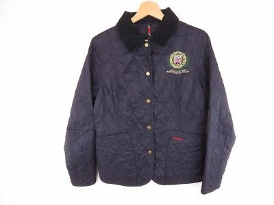 AT4396 BARBOUR COAT JACKET TOP POLO CLUB ORIGINAL NAVY QUILTED CLASSIC size 12