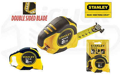 Stanley STHT0-36118 8m Tape Measure MAX PRO Double Sided Tape Metric Only