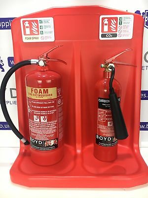 Fire Extinguisher Point -includes Foam & Co2 extinguisher, double stand & signs