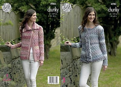 KINGCOLE 4982 ADULT Chunky KNITTING PATTERN  32-42IN -not the finished garments