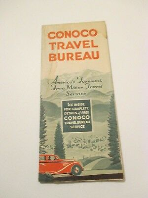Vintage CONOCO United States US Oil Gas Service Station Road Map