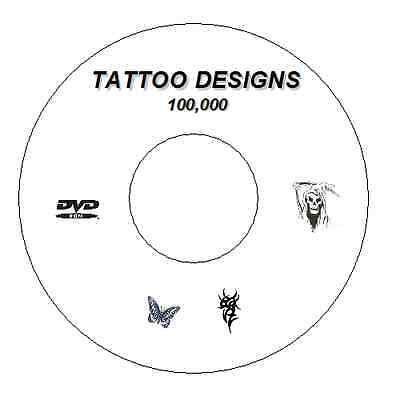 100,000 + Flash Designs & Tattoo Books Tribal,japanese,demons,butterfly Cd / Dvd