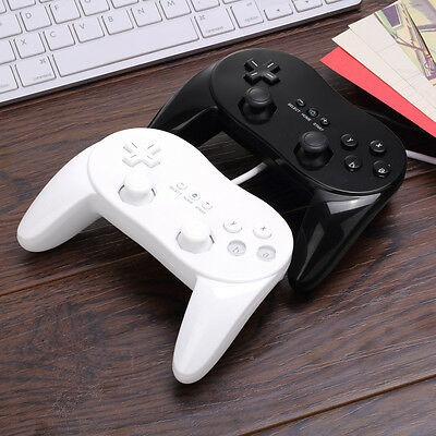 Classic Wired Game Controller Remote Pro Gamepad Shock For Nintendo Wii JK