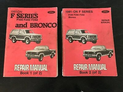 Ford F100 1981-ON F Series and Bronco Workshop Manuals x2