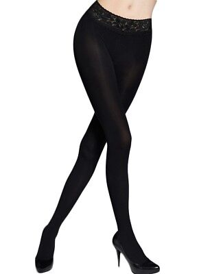 28fbd4f46 100 Denier Satin Gloss Hipster Opaque Black Tights - Marylin Erotic Low  Waist Ho
