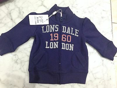 New Baby Girls Lonsdale Jacket Size 3-6 Months $49.95