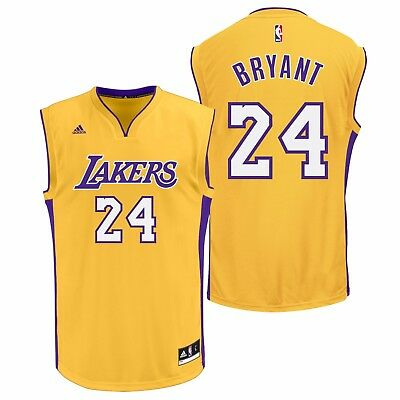 Adults Large Los Angeles Lakers Home Replica Jersey - Kobe Bryant M127