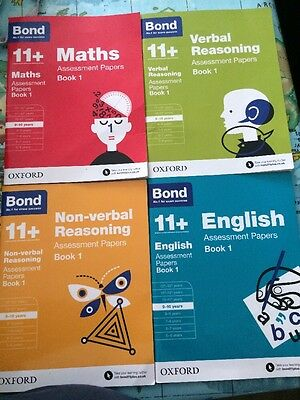 Bond 11+ plus Assessment Papers  9-10 Years. Set of 4 books. New and Sealed.