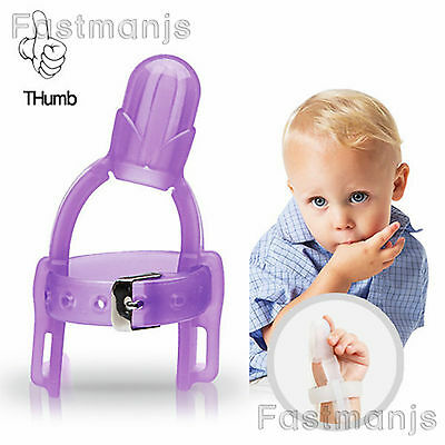 Baby Stop Sucking Thumb Dr.finger Harmless Months Years Guard Protect Purple