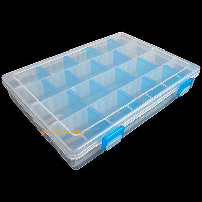20 Compartment Fishing Lure Float Rig Tackle Storage Box Portable Adjustable