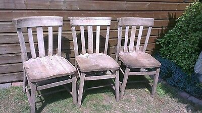 Vintage Church Chapel Chairs Seats Seating Rustic