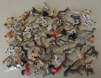 Farm Animals 90+ Plastic Pretend Play Toy Animal Figures Cows Cat Pig Horse Hen