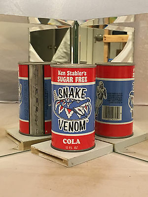 Ken Stabler's Sugar Free Snake Venom Cola Soda Can - Factory Sample