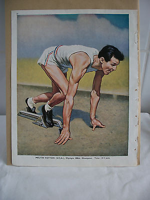 Melvin Patton [USA] 1948 Olympic 200m Champion Bookplate