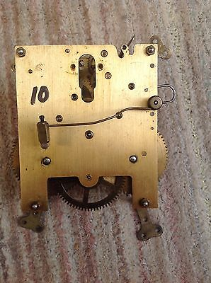 Antique chimming clock movement 10 - unknown maker
