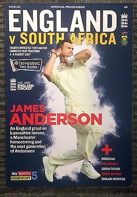 Official England V South Africa Programme -  4Th Investec Test Match 2017