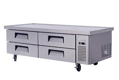 "Migali C-CB72 72"" Refrigerated Chef Base - 4 Drawers - 24 Pans*"